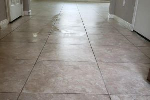 Cleaning tile and grout in your home