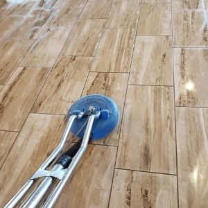Cleaning Tile and Grout Begins